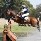 Ellie Braddock and her horse, Miss Matilda, clear a jump.  Photo by Barrack