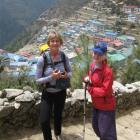 Elsa Mannering (15) and her mother Pauline Murphy above Namche Bazaar. Photo supplied.