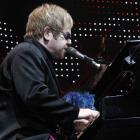 Elton John performs on stage in Riga earlier this month. REUTERS/Ints Kalnins