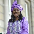Emande Mihindou Mahanga (23), wearing traditional Congolese clothing, was glad to be made a New...