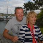 Emirates Team New Zealand chief executive Ross Blackman at the Otago Yacht Club with his wife, Jo...