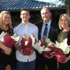 Emma (left), Matt, David and Susan Beaumont, of Cromwell, are among New Zealand's newest citizens...