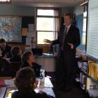 King's High School rector Dan Reddiex delivers the first session of the school's new King's Men's...
