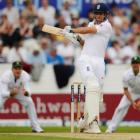 England opener Alastair Cook hits out against South Africa on day two of the second test at...
