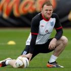 England's Wayne Rooney at team training this week. REUTERS/Eddie Keogh