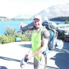 Englishman Robin Moore reaches Queenstown on his walk for cancer from Christchurch to Dunedin via...