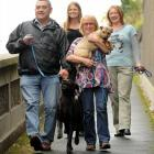 Enjoying saving condemned dogs from the pound are (from left) Dog Rescue Dunedin foster parent...