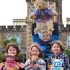 Enjoying the Larnach Castle Teddy Bears' Picnic in Dunedin yesterday are (from left) Jessica...