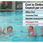 Enjoying themselves at the  Kaitangata Swimming Pool  on Wednesday afternoon  are (from left)...