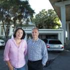 Erica Hannam and Richard Tout oppose the SkyPath cycleway proposed for the harbour bridge. Photo ...