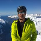 Erik Bradshaw on the summit of Mt Aspiring on Wednesday. Photo supplied.