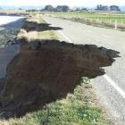 Coastal erosion continues to destroy a temporarily closed section of Beach Rd, between Oamaru and...