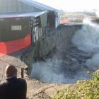 Heavy seas pounded Firman Joinery last June, forcing the company to move out of its Oamaru...