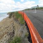 Erosion encroaches on Waianakarua Rd. Photo by Andrew Ashton.