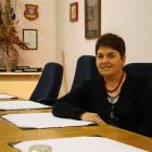 Evelyn Bisset  sits in the boardroom for the last time before  retiring after 33 years with the...