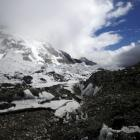 Everest base camp is seen approximately 5300m above sea level in Solukhumbu District, Nepal....