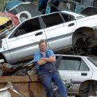Everitt Enterprises manager Peter Everitt faces having a 1000-tonne surplus scrap pile in Dunedin...