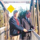 Extreme makeover: Dunedin Botanic Garden team leader Alan Matchett (left) and Duffill Watts...