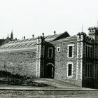 F. A. Coxhead photograph of the Garrison Hall, Dowling Street. Photo from Hocken Collections S04...