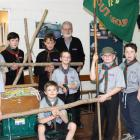 Fairfield Scout Group members (from left) Thomas Lister (10),  Jack Wilson (10), Elliot Faigan ...