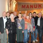 Family members of Ross Clark gather at the Owaka Museum to mark the 80th anniversary of the...