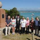 Family ties from left: Bill Pile, Mia Higgins, Waitaki Mayor Alex Familton, Joseph Tipa, Marama...