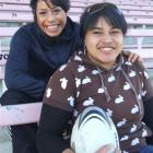 Sisters Sene (left) and Sina Fanene are hoping to be selected for the Otago Spirit team. Photo by...