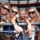 Fans in the crowd at the International Rugby Sevens, Westpac Stadium, Wellington. Credit:NZPA /...