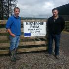 Farmer Niall Armstrong (left) shows Nuffield scholar Steve Wilkins around Kirvennie Farm in...