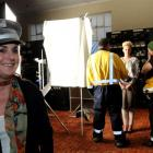 Fashion designer Laurie Foon on site at a fashion shoot in the control room at the Waitaki dam as...