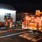 Fire engines from four Dunedin stations attended a suspicious fire in  Caversham on  Saturday....