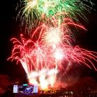 Fireworks explode over Queenstown as the 2011 Winter Festival is launched in Earnslaw Park last...