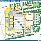 Five Mile retail complex proposal. Graphic supplied.