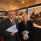 Flight Path Dunedin author Jim Sullivan and June Walls, whose late husband, former Dunedin...