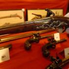 A 17th century Robert Harvey flintlock pistol (one of a pair) sold for $15,000.  Photo by Gregor...