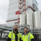 Fonterra southern operations manager Richard Gray (left) and managing director of global...