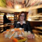 Foodshare executive director Deborah Manning, at Wishbone, in Dunedin,  with some of the leftover...
