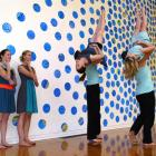 Footnote Dance Company perform at the Dunedin Public Art Gallery. They are (from left) Erynne...