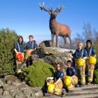 For a good cause: Female firefighters from the Mossburn Volunteer Fire Brigade were photographed...