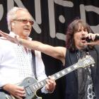 Foreigner vocalist Kelly Hansen (right) performs at the Gibbston Summer Concert on Saturday with ...