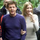 Former Beatle Sir Paul McCartney  with his then bride-to-be Heather Mills in Ireland in June 2002...