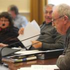 Former Dunedin city councillor Maurice Prendergast experiences the view from the other end of the...
