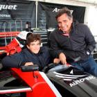 Former Formula One world champion Nelson Piquet and his son Pedro  at Invercargill's Teretonga...