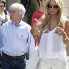 Formula One supremo Bernie Ecclestone and his daughter Petra are seen in Rome at the weekend...