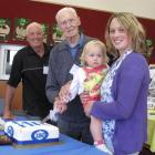 Four generations of the Ford family (from left) Paddy Ford, of Dunedin, Jack Ford, of Balclutha,...