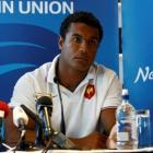 France captain Thierry Dusautoir attends a news conference in Auckland today ahead of their Rugby...