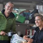 Freedom campers Mathilde Straebler (28) and Kevin Guay (27), both of Paris, are planning to spend...