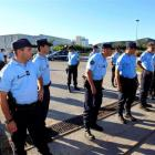 French gendarmes secure the area after an explosion at the French nuclear waste treatment site of...