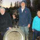 Friends of the East Taieri Dog Park members (from left) Glen Munn, Chris Burrows and Joy Hawley, ...