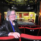 Friends of the Globe chairwoman Rosemary Beresford takes a seat in the weathered theatre. Photo...